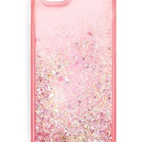Pink Stardust Glitter Bomb iPhone Cell Phone Case by Bando - Fits iPhone 6/6s, 7 & 8