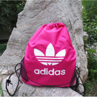 """Adidas""Men and women of mouth draw string backpack to receive the student sports fitness yoga training bag bag bag mail"