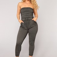 Swoop In Jumpsuit - Black
