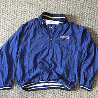 Vintage Nike windbreaker/jacket // blue & gold // quarter zip // large rare
