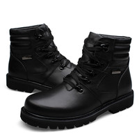 Men Boots Winter Shoes Special Forces 2016 Ankle Snow Boots Military Work Martins Fashion Genuine Leather Chelsea Men Punk Shoes