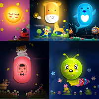 Kids Room Decoration Idea - 3D Stickers Night Lamp