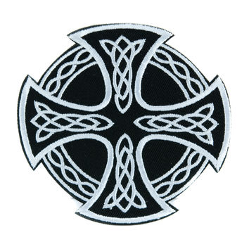 Celtic Iron Cross Patch Iron on Applique Alternative Clothing Sons of Anarchy