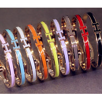 Hermes£ºMulti - color bracelet ladies candy color titanium steel gold - plated rose gol