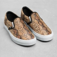 & Other Stories   Vans Classic Slip-On Snake   Brown