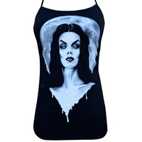 Lowbrow Moonlight Vampira Camisole Tank by Shayne of the Dead