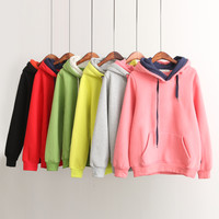 Students hooded fleece pullover