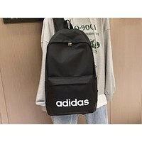 ADIDAS hot seller casual men's and women's backpacks fashion simple printed shopping bag Black