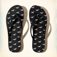 Girls Rubber Icon Flip Flop | Girls Shoes & Accessories | HollisterCo.com