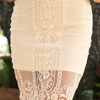 Love Trance Skirt: Cream