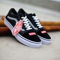 VANS x Supreme Old Skool Running Shoes 36-44