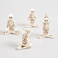 Yoga Skeleton Decor Set of 4