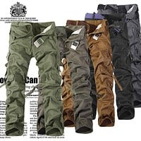 Brand Hot Sale New Fashion casual mens cotton military sweatpants sweat Man Joggers camouflage camo cargo Pants plus Size 42