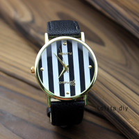 Stripes watches, men and women watch, students watch and unique fashion watches
