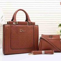 Dior Two-Piece Women Shopping Bag Leather Tote Handbag Shoulder Bag H-MYJSY-BB Tagre™