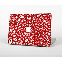 """The Red Vector Floral Sprout Skin Set for the Apple MacBook Pro 15"""""""
