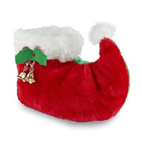 Womens Christmas Elf Plush Slippers