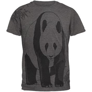 Panda Bamboo All Over Dark Heather Soft Adult T-Shirt