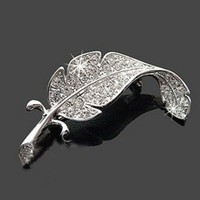 Korea all-match small jewelry full brooch leaves sweet Unisex   broches  broszkabadge boutonniere