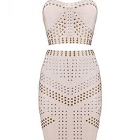 POSH GIRL Ella Studded Bandage Skirt & Tank Set