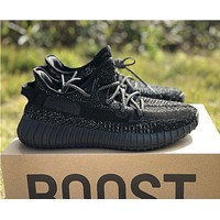 Adidas Yeezy Boost 350 v2 Static Reflective Black Sneakers