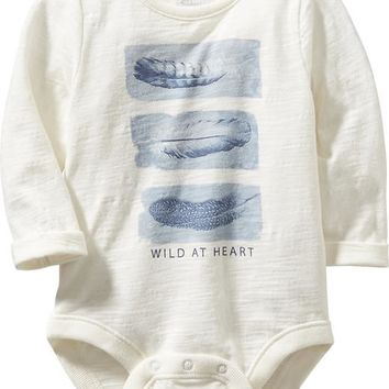 Old Navy Long Sleeve Graphic Bodysuit
