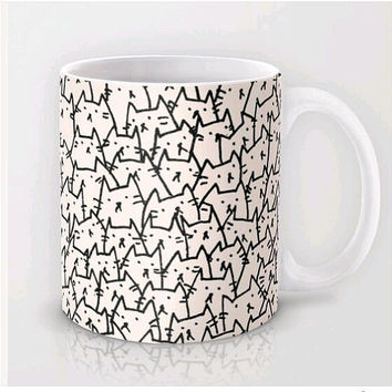Cute CATs mug,Cream because cat coffee mug,funng cats tea mug,ceramic mug cup,holiday mug,Valentine's day mug,Valentine's day gift for him