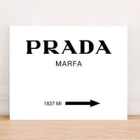 Prada Marfa Fashion Art Print Poster Instant Download, Fashion Art Print, Black White Poster, Fashion Wall Decor, Gossip Girls Prada Poster
