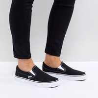 Vans Classic Slip On Trainers In Black And White at asos.com