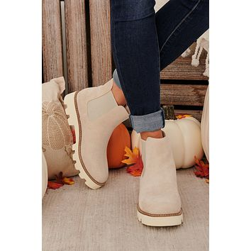 Step Aside Chunky Sole Booties (Light Grey)