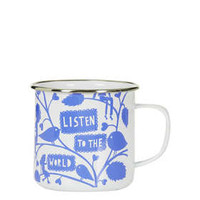 Rob Ryan Enamel Mug - Light Blue