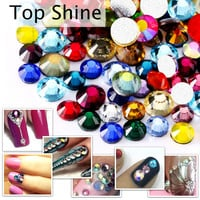Non Hotfix Mix Sizes & Colors SS4 SS6 SS8 SS10 SS16 SS20 SS30 Rhinestones FlatBack Strass glitter About 800pcs for Nail Art