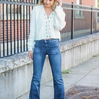 Cross the Line Cropped Sweater