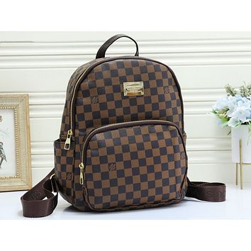 LV fashion checked print shoulder bag hot seller of casual ladies shopping bag Coffee lattice