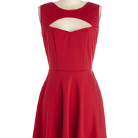 Jack by BB Dakota Wrapped Up in Red Dress | Mod Retro Vintage Dresses | ModCloth.com