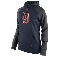 Women's Detroit Tigers Nike Navy All Time Performance 1.5 Pullover Hoodie