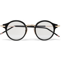 Thom Browne - Round-Frame Acetate and Metal Optical Glasses