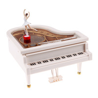 High Quality Music Toy Clockwork Type Rotary Classical Ballerina Girl On The Piano Music Box Baby Girl Birthday Gift Toy