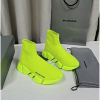 Balenciaga Trending Women's men Leather Side Zip Lace-up Ankle Boots Shoes High Boots12