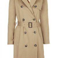 Cotton Trench Coat - Camel