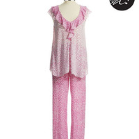 Oscar De La Renta Two Piece Pajama Set