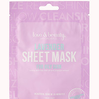 FOREVER 21 Lavender Facial Mask Purple/White One