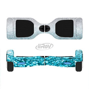The Turquoise & Silver Glimmer Fade Full-Body Skin Set for the Smart Drifting SuperCharged iiRov HoverBoard