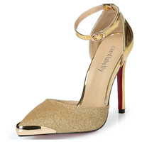 High Heels Women Pumps Glitter High Heel Shoes Woman Sexy Wedding Party Shoes Gold Silver Blue