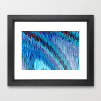 BLUE FLOW Framed Art Print by catspaws