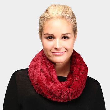 Solid Faux Fur Infinity Scarf (Click For More Colors)