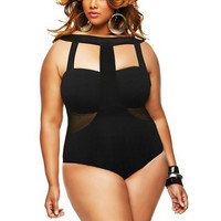 Summer sexy swimsuit bikini conjoined printing flowers plus-size with breast pad without steel beach bathing suit