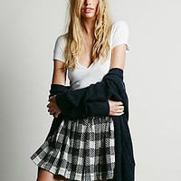 Free People Womens Holly Go Lightly Plaid Skirt
