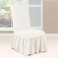 Sure Fit - Essential Twill Long Dining Chair Slipcovers