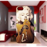 Marilyn Monroe Lakers case For iPhone 4/4S iPhone 5 Galaxy S2/S3/S4